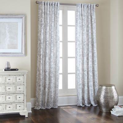 Buy Noelle Rod Pocket Back Tab 84 Inch Window Curtain Panel In