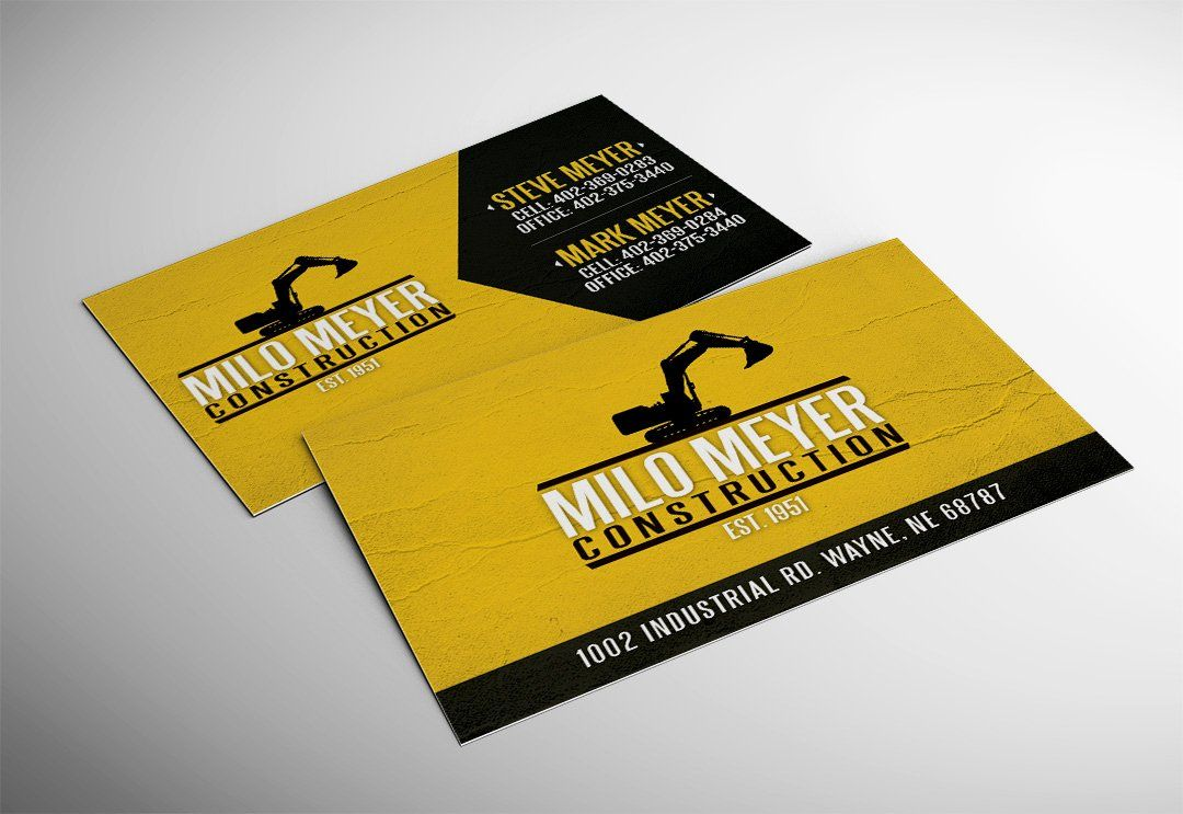 Construction business cards examples awesome milo meyer