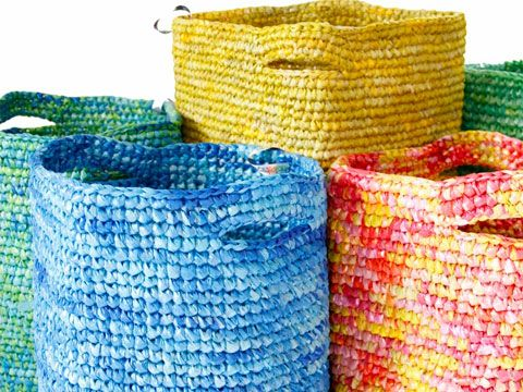 Laundry Baskets Made From 200 Recycled Plastic Bags