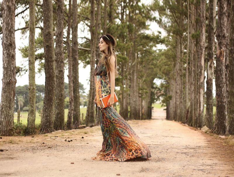 Vestido longo / Fashion Coolture