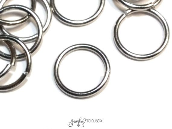 Heavy Duty Jump Rings 100 Pieces 12mm Diameter 16 Gauge 1 2mm Stainless Steel Jump Rings Closed Unsoldered Jump Rings Rings 12mm