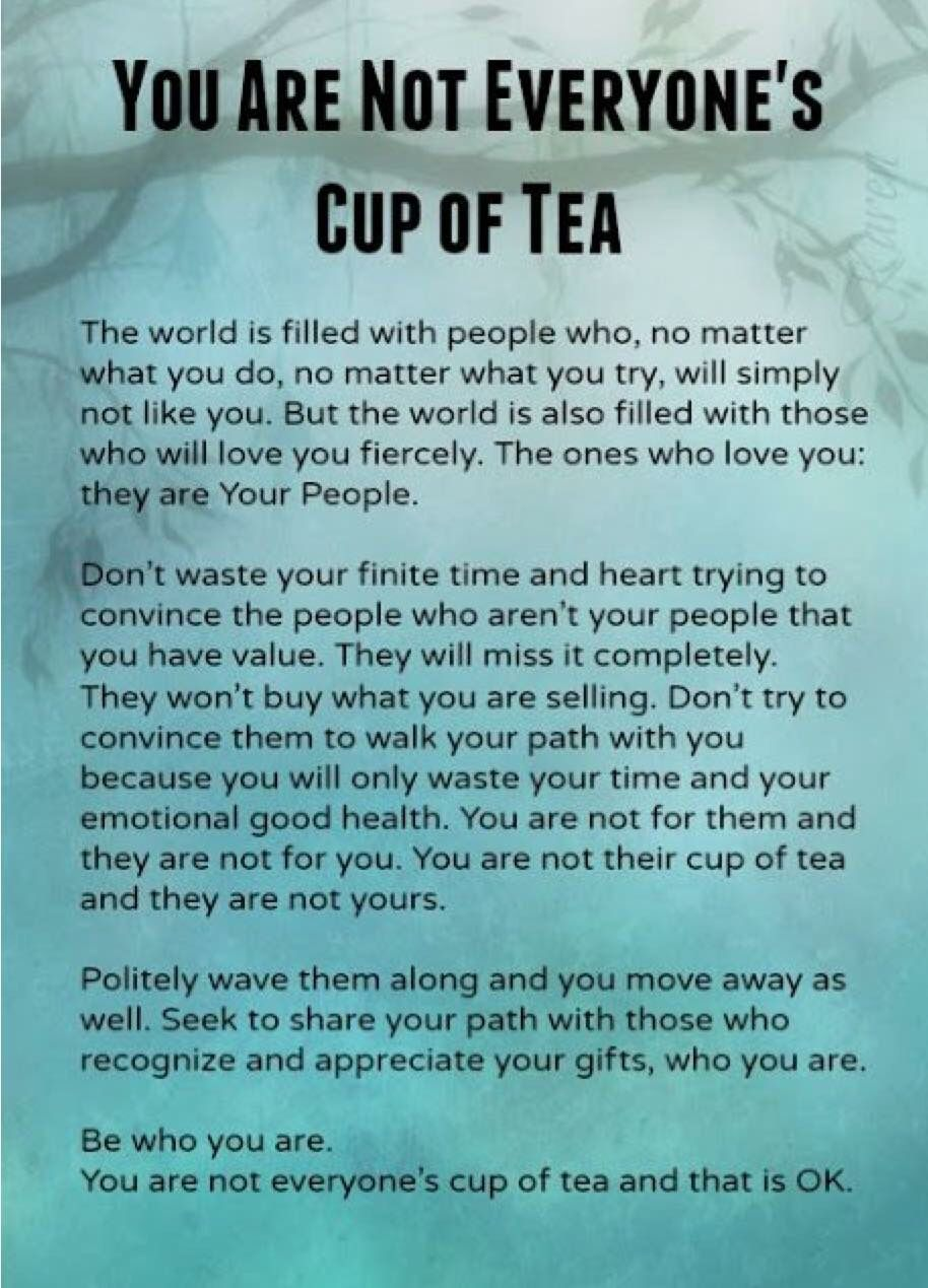 Not Everyones Cup Of Tea Aftermath Quotes Inspiring Quotes