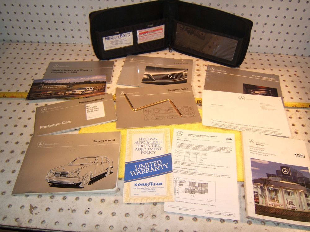 Mercedes W210 E300d 1996 Us Owner S Manuals Genuine 1 Set Of 11