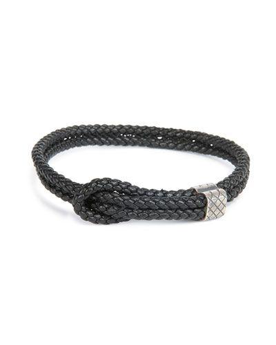 dfbef78fe5c8a Bottega Veneta Men s Woven Leather Knot Bracelet