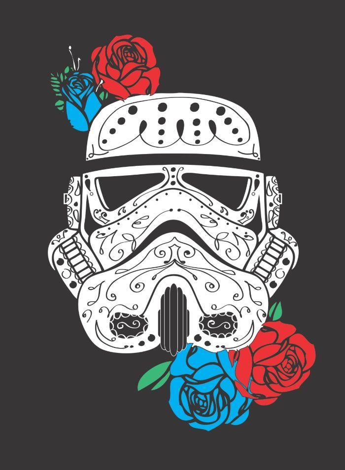 Storm Trooper Dia De Los Muertos Art Print By Lexluthor