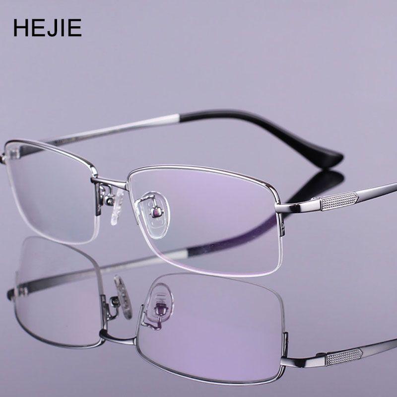 ffebb89564 Fashion Men Pure Titanium Eyeglasses Frames High Quality Brand Myopia  Glasses Frame For Male Size 54