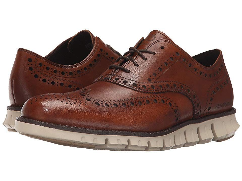 Cole Haan Zerogrand Wing Ox British Tan Mens Lace Up Wing Tip Shoes Blend the genres of athleticism and style with the Cole Haan Zerogrand Wing OX Leather or suede upper...