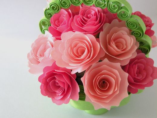 Beautiful Quilled Roses