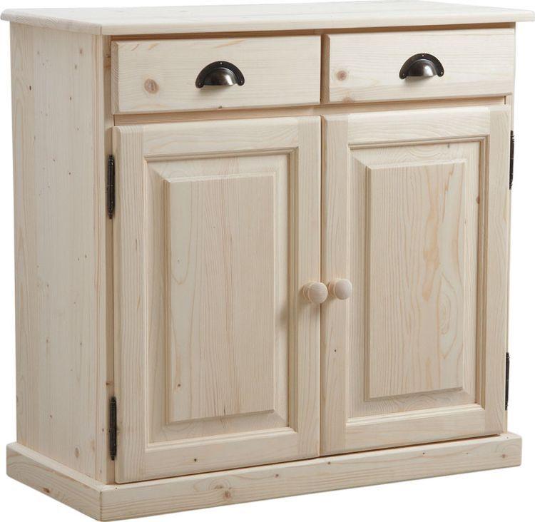 buffet en bois brut 2 portes 2 tiroirs en 2018 mobilier en bois brut pinterest bois brut. Black Bedroom Furniture Sets. Home Design Ideas