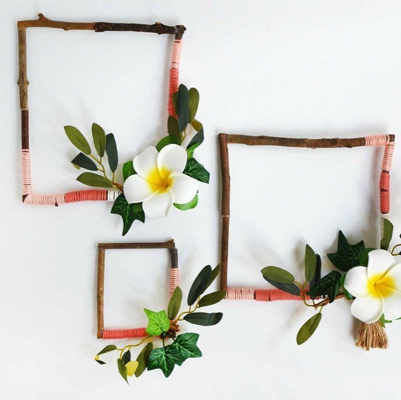 We just love beautiful and easy home decor DIYs like these twig ...