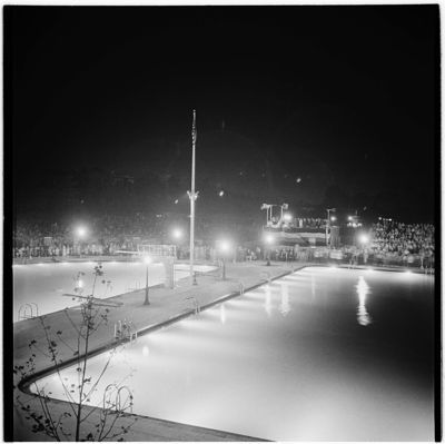 In 1936 Many Of The Swimming Pool Dedication Ceremonies Were Held In The Evenings So Parks