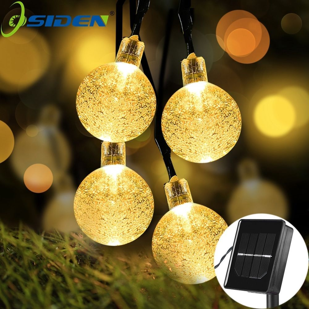 Ball Solar String Lights For Home Garden Patio Christmas Hanging ...