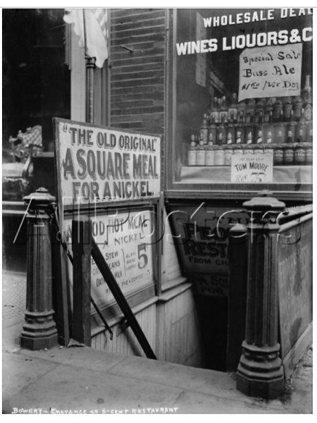 Bowery Scene 1920's