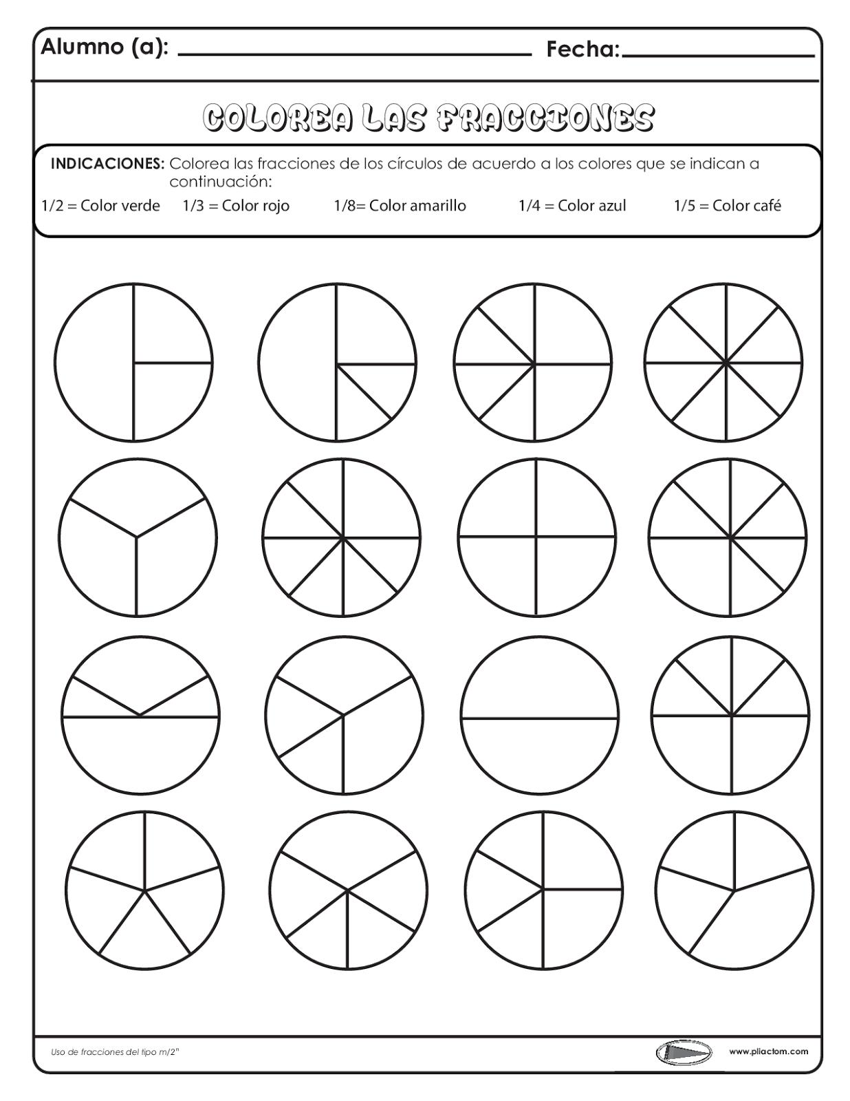 Colorea las fracciones - Recursos e información para docentes ...