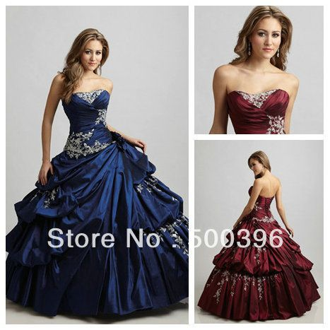 Victorian Style Royal Blue Sweetheart Backless Ball Gown Prom ...