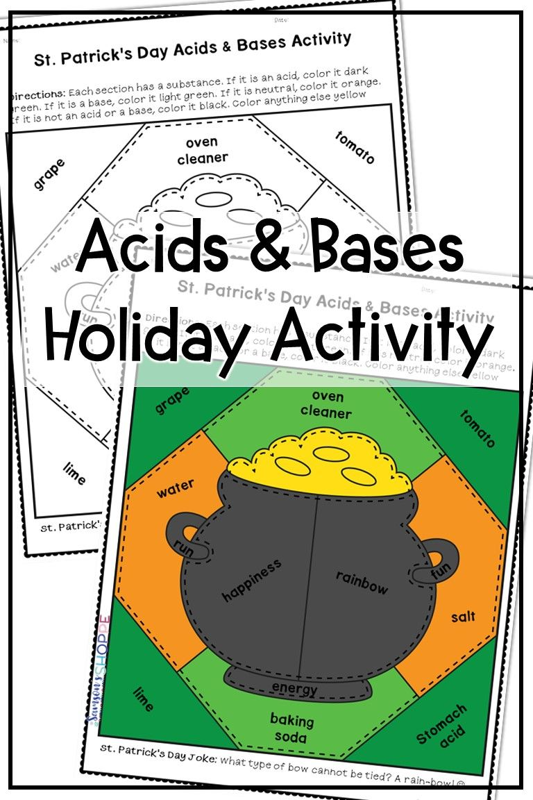 St Patricks Day Acids And Bases Activity Fun Lesson Plans Upper