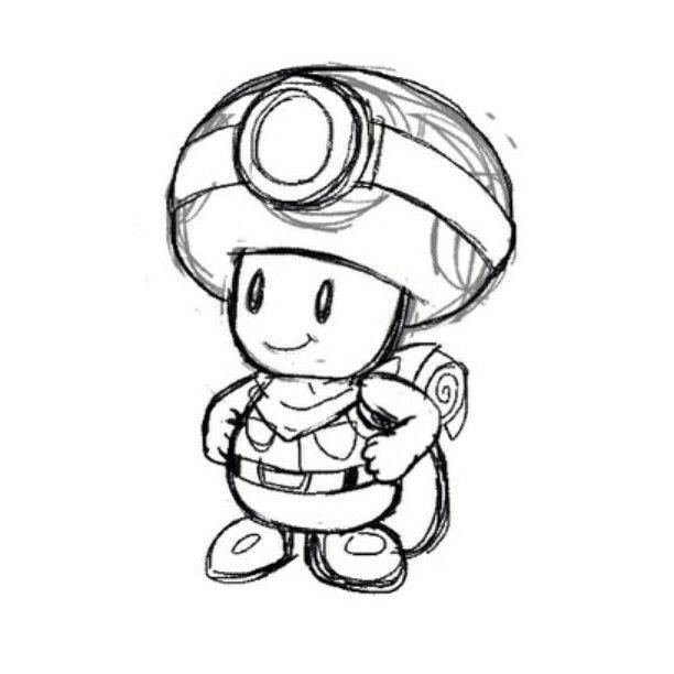 Capitan Toad Coloriage Coloriage Mario Kart Coloriage A Imprimer