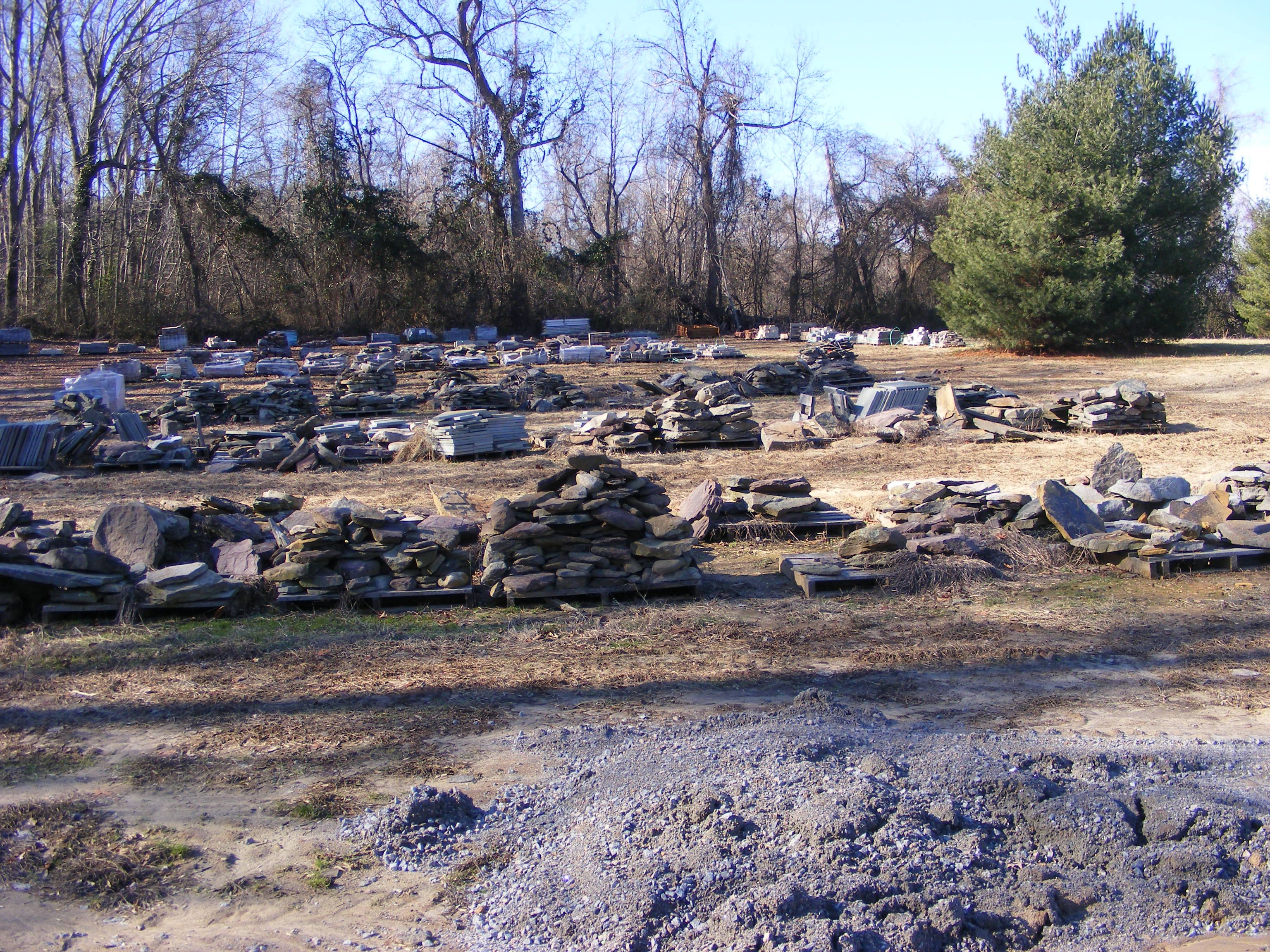 Our Field Of Stone We Use On Our Jobs.