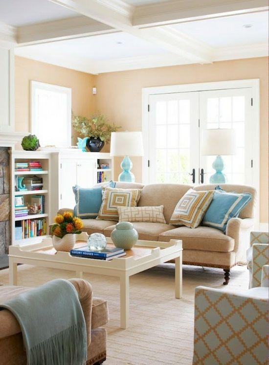 helle farben-blau wohnzimmer | lovely rooms | pinterest | blaue ... - Wohnzimmer Farben