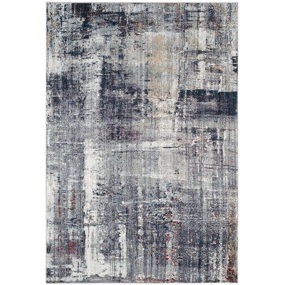 Foresta Abstract Blue Area Rug Contemporary Area Rugs