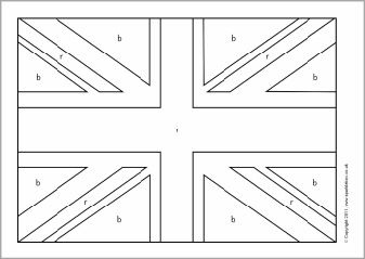 Union Flag Colouring Sheets