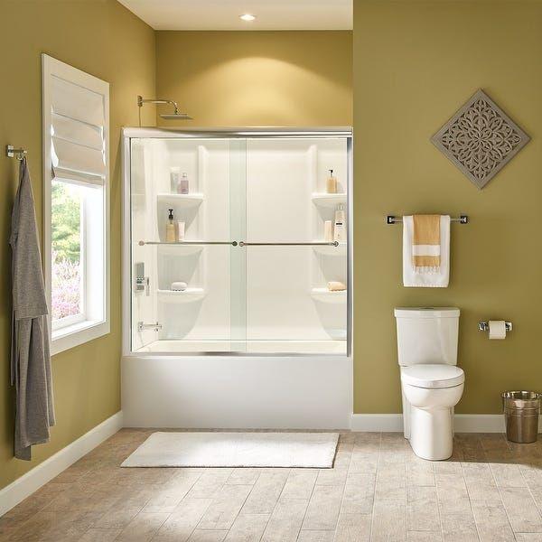 American Standard 2946 102 Studio 60 X 32 Alcove Soaking Bathtub With Right Drain Arctic In 2020 Bathtub Walls Shower Wall Kits Bathtub