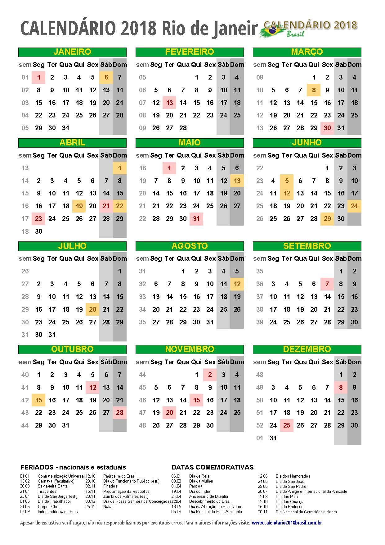 Calendario 2018 Rio De Janeiro Retrato M Jpg 1241 1754