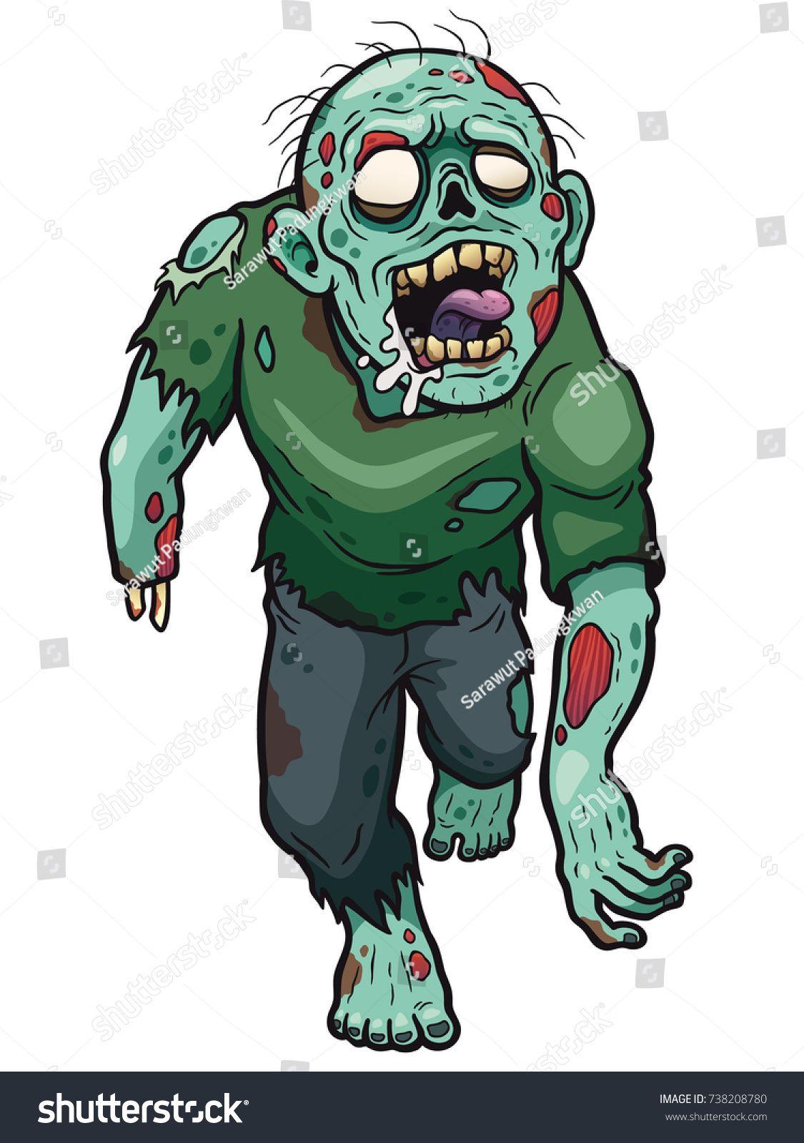 739872093a1e3 Vector illustration of Cartoon Zombie | zombies | Zombie cartoon ...