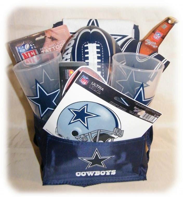 dallas cowboy gift basket | Gifts | Pinterest | Cowboys, Dallas ...