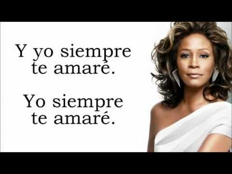 i will always love you whitney houston letra en espa ol youtube musica pinterest canciones. Black Bedroom Furniture Sets. Home Design Ideas