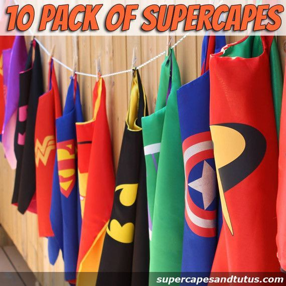 Party Pack 10 Superhero Capes