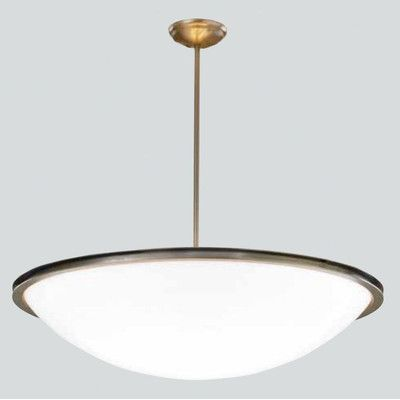 Ilex regent bowl pendant with single stem size 30 finish architectural bronze
