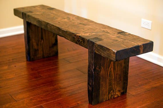 Peachy Reclaimed Salvaged Rustic Wood Bench Made From Douglas Fir Machost Co Dining Chair Design Ideas Machostcouk
