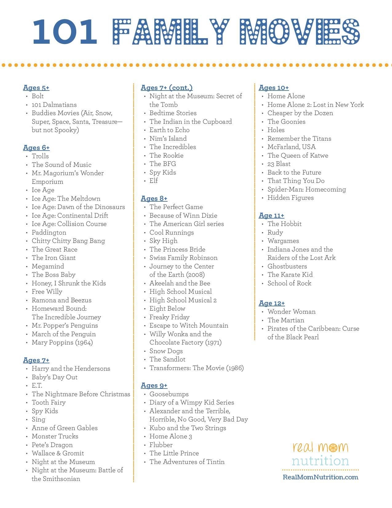 101 Family Movies You & Your Kids Will Love | Veggie nuggets, Family ...