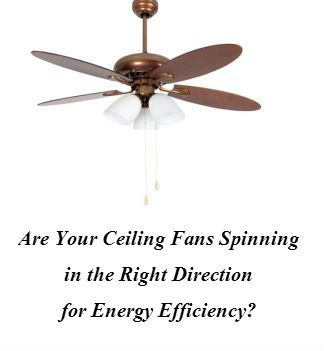 Are Your Ceiling Fans Spinning In The Right Direction For Energy