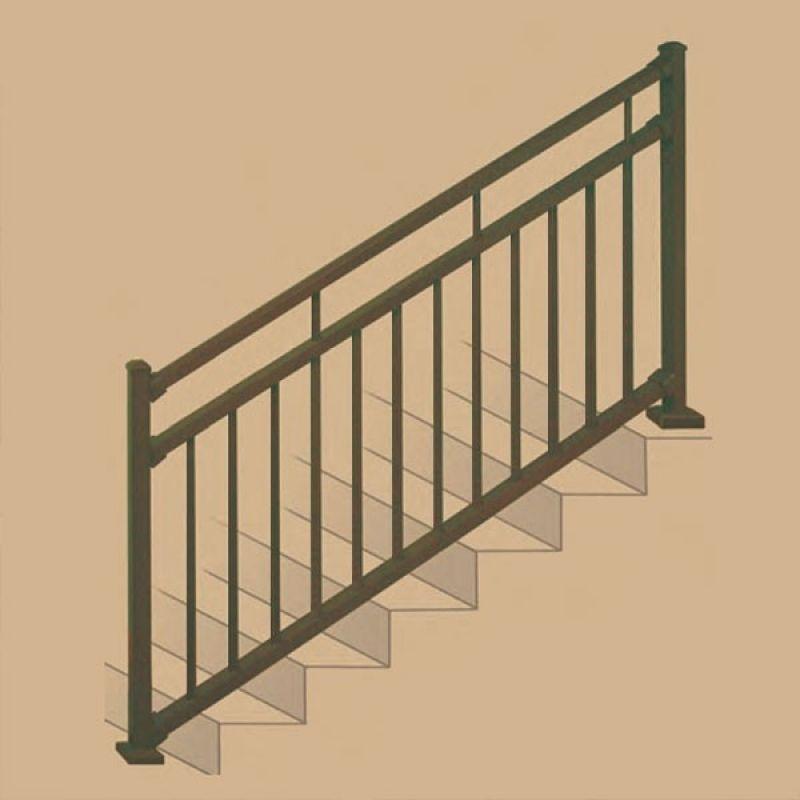 Best Stair Railing Kits Adjustable Angle Stair Rail Kit 400 x 300