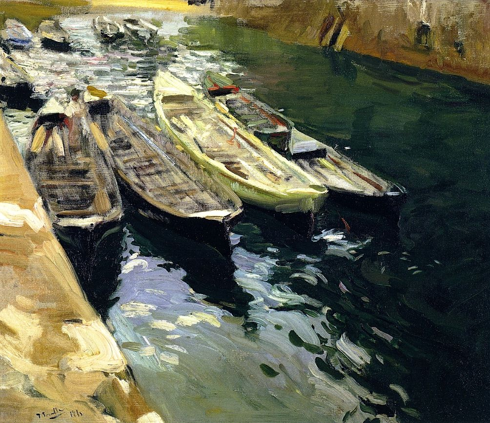 Fishing boats port of zarauz joaquin sorolla y bastida for Galeria de arte sorolla