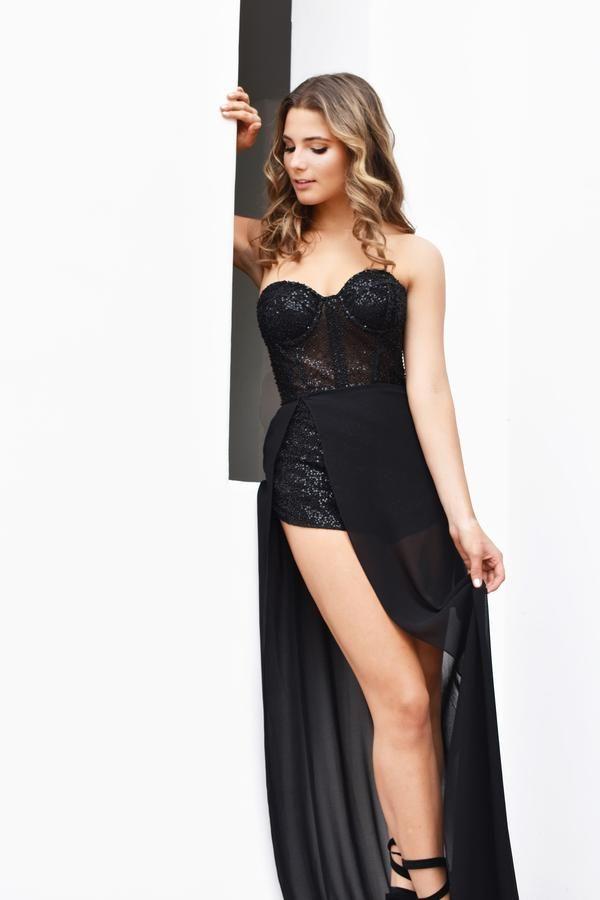 Zoey Grey Long Open-Back Beaded Prom Dress - PromGirl