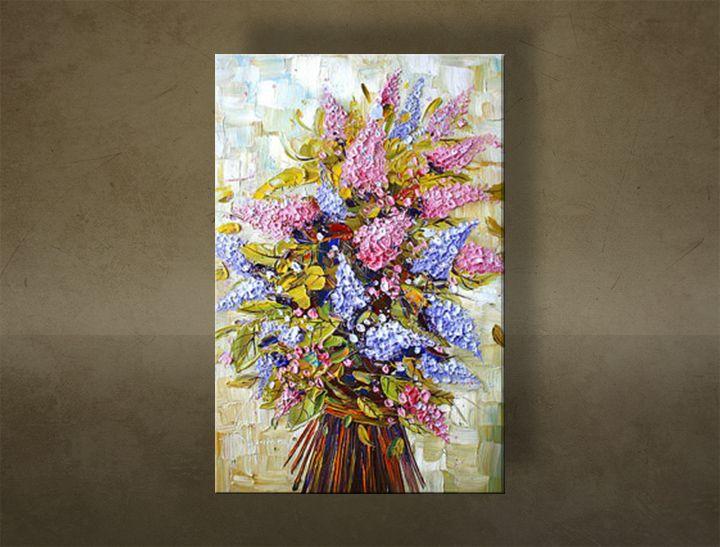 Ručne maľovaný obraz KVETY BI0105E1