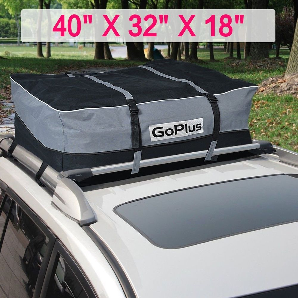Fit Ford Heavy-Duty Cargo Bag Luggage Carrier Car Roof Top Mount Rack Storage