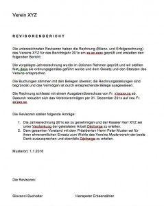 Revisorenbericht Verein Vorlage   Muster und Vorlagen   Pinterest ...
