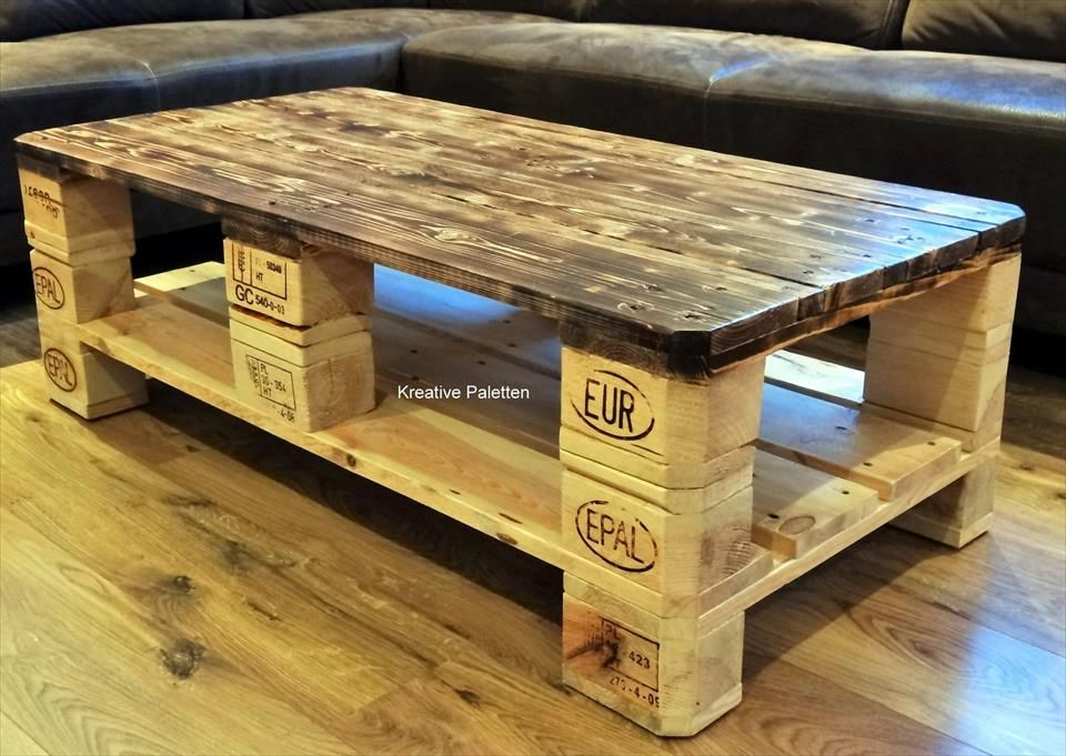 euro pallet wood coffee table furniture pinterest palette tisch und holz. Black Bedroom Furniture Sets. Home Design Ideas