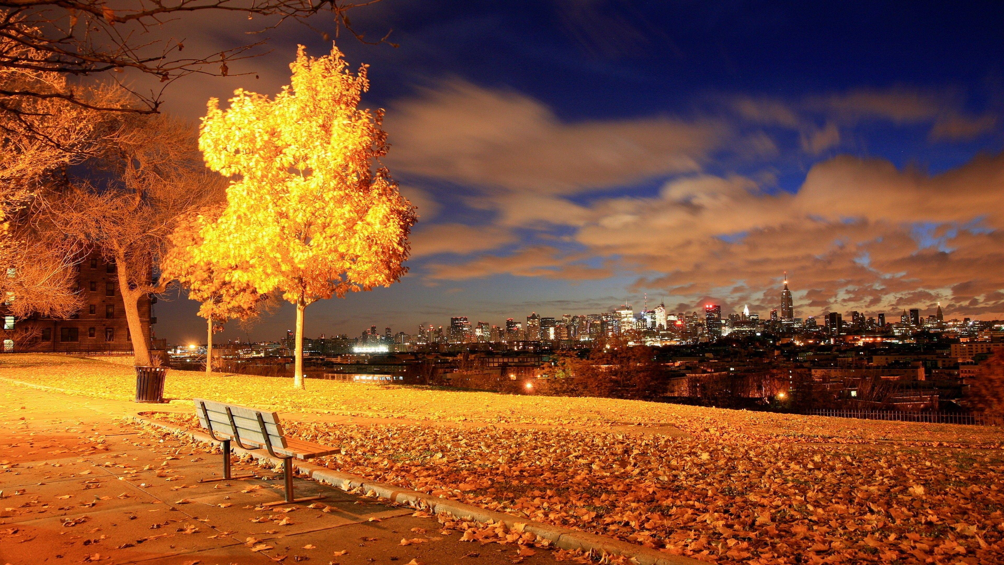 Candles On a Fall Night Desktop | Fall Desktop Background ...