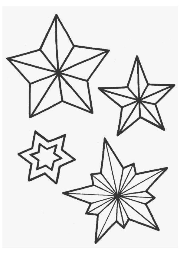 kleurplaten kerst ster