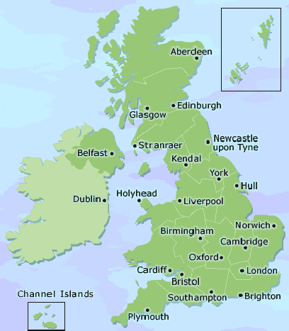 Map Of Uk 1000.1 000 S Of Hotels Guest Houses Lodgings Uk Accommodation