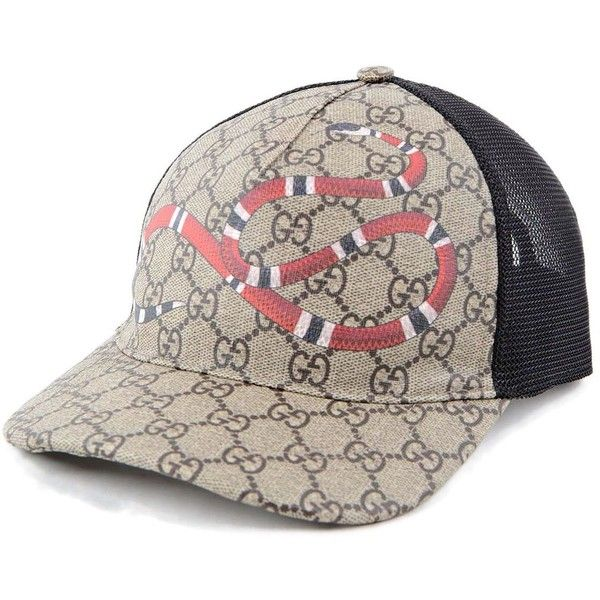 91a2bd70db3 Gucci Snake Baseball Hat ( 200) ❤ liked on Polyvore featuring accessories