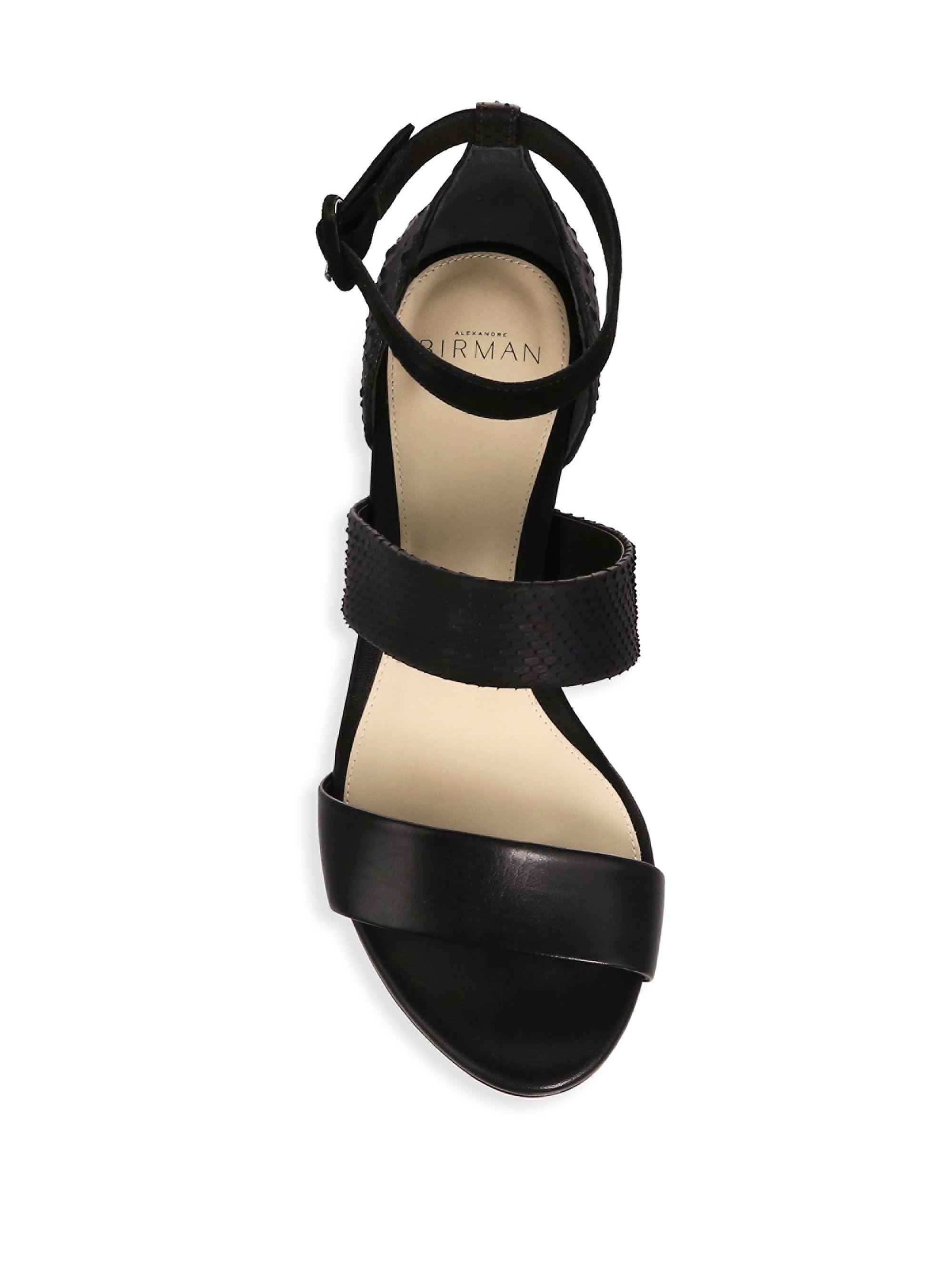 485e232314a ALEXANDRE BIRMAN New Yanna Python   Leather Platform Sandals.   alexandrebirman  shoes