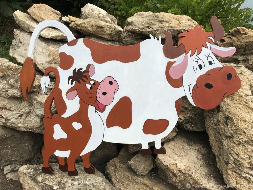Садовая фигура корова с теленком – заказать на Ярмарке ...