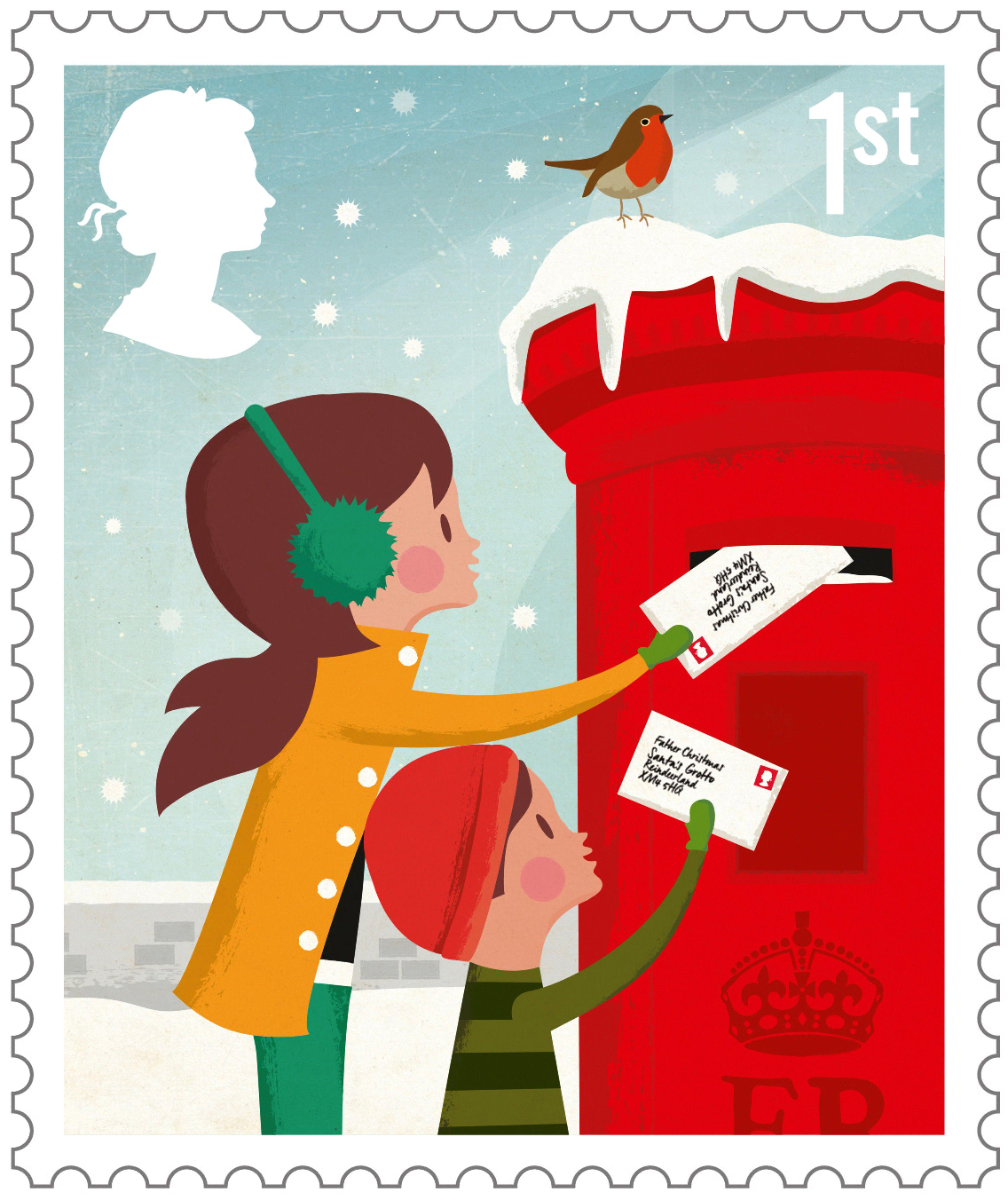 christmas postage stamps vintage royal mail Google