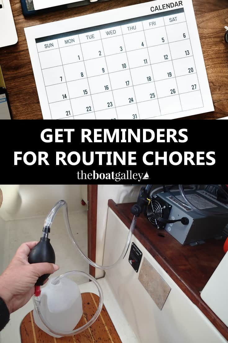 Getting Reminders Cruising & Chartering Living on a